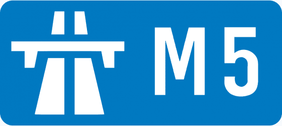 M5 Road Sign