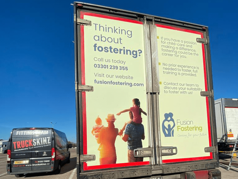 Fusion fostering Truck Advertising Campaign